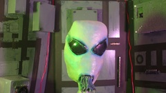 Alien off to side moving ET creature scifi 2 Stock Footage