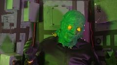 Bmovie alien creature monster scifi Stock Footage