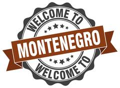 Montenegro round ribbon seal Stock Illustration