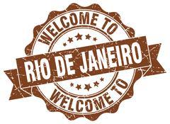 Rio De Janeiro round ribbon seal Piirros
