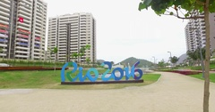RIO 2016 olympic Village Stock Footage