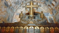 The iconostasis of Saint John the Evangelist Monastery near Poganovo Village, Stock Footage