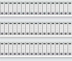 White lever arch folders Stock Illustration