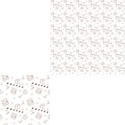Seamless pattern kitchen icons in the style of line art with inscription wi.. Stock Illustration