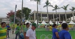 Entrance at Maracana stadium at RIO 2016 olympic final Stock Footage