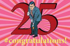 Congratulations 25 anniversary event celebration Stock Illustration