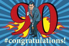 Congratulations 90 anniversary event celebration Stock Illustration