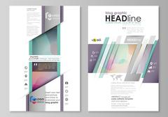 Blog graphic business templates. Page website design template, flat style vector Stock Illustration