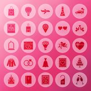 Solid Wedding Circle Icons Stock Illustration