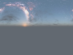 Milky Way stars at sunset virtual reality 360 degree video. Stock Footage