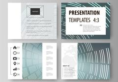 Set of business templates for presentation slides. Easy editable abstract vector Piirros