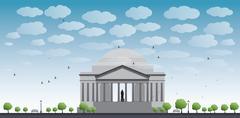 Thomas Jefferson Memorial, in Washington, DC, USA Stock Illustration