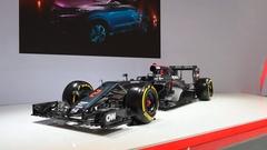 McLaren-Honda MP4-31 2016 Formula 1 Grand Prix race car Stock Footage