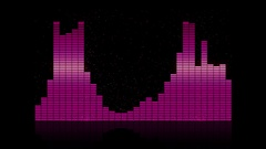 Equalizer bar frequency with back light 4K Stock Footage