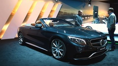 Mercedes-Benz S-Class Cabriolet AMG S 63 Stock Footage