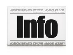 Information concept: newspaper headline Info Piirros