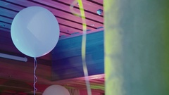 White Balloons at the Party Stock Footage