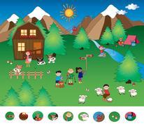 Visual game Stock Illustration