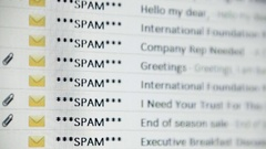 Spam mail browse Stock Footage
