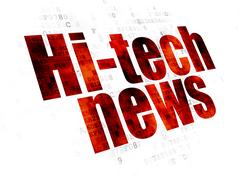 News concept: Hi-tech News on Digital background Stock Illustration