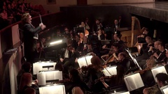 Playing of the Symphony orchestra. Stock Footage