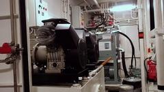 Shipboard desalination plant. Tug AHTS equipment Stock Footage