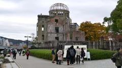 Hiroshima Peace Memorial Or The Atomic Bomb Dome Japan Asia Stock Footage