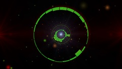 Circle Equalizer bar frequency 4K green Stock Footage