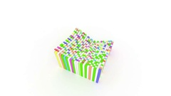 Intro Colorful Boxes Moving Seamless Loop background Stock Footage