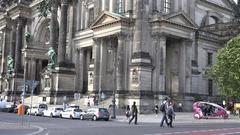 4K Traffic street in downtown Berlin avenue touristic bus travel transportation Stock Footage