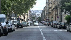 Parisian streets in the center of Paris. Stock Footage