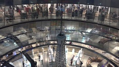 4K Interior of Galeries Lafayette luxury market shopping in Berlin fashion brand Stock Footage