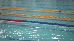 Swimming pool installation boundary lines Stock Footage