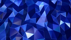 Blue polygon waves background Stock Footage