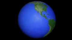 Centered seamless loop of half tone style globe Stock Footage