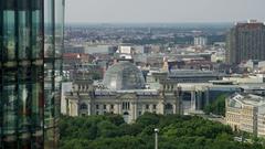 German Reichstag Building in Berlin Stock Footage