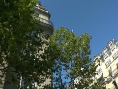 Parisian Street On A Summers Day Stock Footage