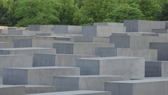 4K Jewish Holocaust Memorial monument in famous Berlin historic place tourism Stock Footage