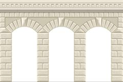 Wall with arches Stock Illustration