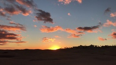 Sunset at the dune landscape in Maspalomas Stock Footage