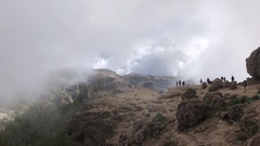 Clouds moving over the Roque Nublo Stock Footage