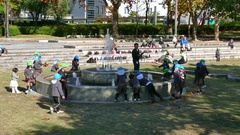 Kids School Children Pupils Students Playing In Hiroshima Park Japan Arkistovideo