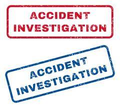 Accident Investigation Rubber Stamps Stock Illustration