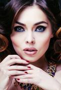 Beauty rich woman with luxury jewellery looks like mature Kuvituskuvat