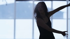 Hands and Legs of a Young Female Dancing in a Gym Stock Footage