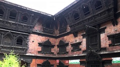 Architecture of Buddhist Museum in Durbar Square Kathmandu Nepal. Stock Footage