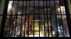 Showcase antique shop. 4K. Stock Footage