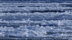 Freezeup and Frazil Ice on River in a Freezing Winter Day Stock Footage