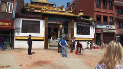 Traditions and customs in Kathmandu in Nepal. Stock Footage