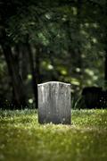 Lone Civil War Tombstone Stock Photos